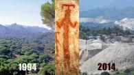 29Temmuz2015 Çarşamba – turizmhaberleri.com/haber merkezi Bafa Gölü'nün doğusundaki Beşparmak (Latmos) Dağları'nın 1994 ve 2014 yıllarında çekilen resimleri bölgedeki doğa tahribatını çok net bir şekilde gözler önüne seriyor. Maden ocaklarının çalışmaları...