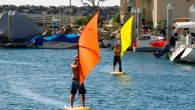 And now for something completely different. Have you ever tried a stand-up paddle with a small, built-in windsurfing sail? Yes, it's been invented. The reviews are interesting, and its simplicity...