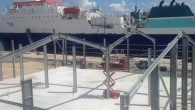 """Land Rover BAR's Bermuda base is """"rapidly under construction"""" with """"foundations set and framework up,"""" the sailing team said. A tweet sent by the team says, """"Foundations set framework up,..."""