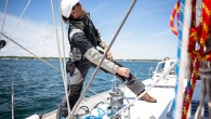 """There is an old sail trim adage, """"trim the front of the jib and back of the mainsail,"""" or where the wind meets and leaves the sail plan. Telltales are..."""