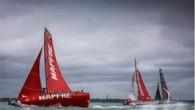 // Volvo Ocean Race boats beat existing monohull record in around the Isle of Wight race at Cowes Week. MAPFRE clocked 3 hours 13 minutes 11 seconds in strong...