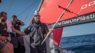 Charles Caudrelier's Dongfeng Race Team led the fleet over the famous line of latitude at 0941 UTC with the slimmest of leads over MAPFRE, Vestas 11th Hour Racing, Team Brunel...