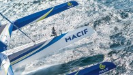 he rocky coast of Brittany, France, is breathtakingly beautiful but melancholy in winter, when the days are short and sunlight sparse. Yet, as the giant blue-and-white trimaran Macif sails into...