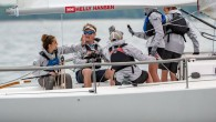 Five local teenagers who were specially selected to compete in the J/80 class as the Helly Hansen Junior Crew finished the fleet's only race in first place — the first...