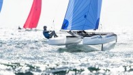 Weymouth, England (May 13, 2019) – The Nacra 17 Europeans got underway today with wind in the mid-teens, a welcome relief from a run of light-airs regattas so far in...