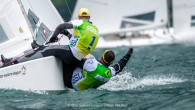 Rival del Garda, Italy (May 17, 2019) – Very light winds with patchy cloud coverage made for tough conditions on the third day of the Star European Championships and SSL...