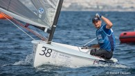 Athens, Greece (May 18, 2019) – Giles Scott (above) secured his third European Finn title today after holding off world champion Zsombor Berecz, from Hungary, on the final day of...
