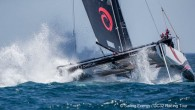 Lagos, Portugal (June 28, 2019) – Five more races in warm sunshine, flat water and a shifty 12-16 knot northwesterly were completed on day two of the the GC32 World...
