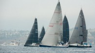 Los Angeles, CA (July 12, 2019) – In gray but clearing skies and a light building seabreeze, the second wave of monohull entries has left the Point Fermin start line...