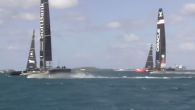 SoftBank Team Japan sailors are safe after a wing broke while sailing yesterday, with the moment caught on video from two different angles, showing the exact moment that the wing gave way. Following the incident, SoftBank Team Japan Skipper Dean Barker […]