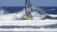 Victor Fernandez Shredding El Médano Immediately After The 2019 Tenerife PWA World Cup Victor Fernandez (Fanatic / Duotone / Shamal Sunglasses) was one of the few sailors to stay on...