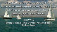 Turmepa Antalya Şube Başkanı Sn Osman Ayık başkanlığa aday olmayacağını STK'lardaki görevlerinden ayrıldığını bir bayrak değişiminin vakitin geldiğini 24 Mart 2021 tarihindeki sözlü olarak yönetim kurulunda belirtikten sonra; Başkan Yardımcısı olduğum derneğimize Başkan adayı olmak için karar verdim ve üyelerimizi […]
