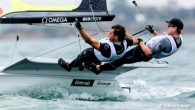 Geelong, Australia (February 12, 2020) – The third day at the 2020 49er, 49erFX, and Nacra 17 World Championship awoke to steady rain, grey skies and mist which affected visibility on Corio Bay. It's been a rare sight at these […]