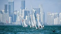 Miami, FL (March 4, 2020) – The change in wind pressure gave no change in performance from the series leaders Mateusz Kusznierewicz (POL) and Bruno Prada (BRA) who racked up another win today to lead the 64 boat Star Class […]
